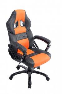 Bureaustoel Dylinne Zwart/Oranje