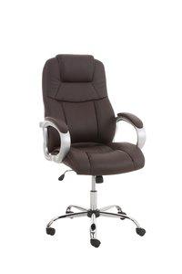 Bureaustoel Marrit Bruin (extra brede bureaustoel - brede zitting - zware belasting)