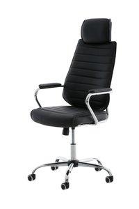 Bureaustoel Romsaya Leer Zwart - Comfortabel