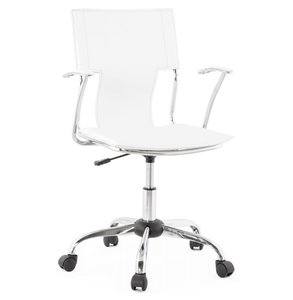 Bureaustoel Modesto Wit (Design - Trendy - Modern)