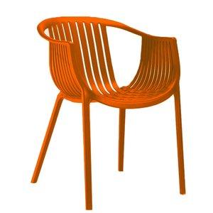 Tuinstoel Nikki Oranje (kunststof - stapelbaar - kleurrijk)
